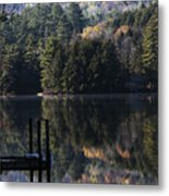 Best Chair At The Pond Metal Print
