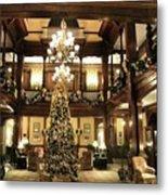 Best Western Plus Windsor Hotel Lobby - Christmas Metal Print
