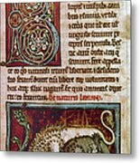 Bestiary: Lion Metal Print