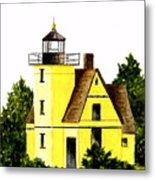 Bete Gris Lighthouse Metal Print
