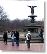Bethesda Fountain Metal Print