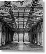 Bethesda Terrace Arcade 3 - Bw Metal Print