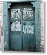 Bethlehem - Blue Door Metal Print