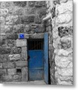 Bethlehem - Blue Old Door Metal Print