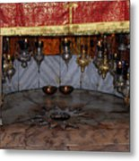 Bethlehem - Nativity Church - Silver Star Metal Print