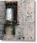 Bethlehem - Nativity Church Window Metal Print