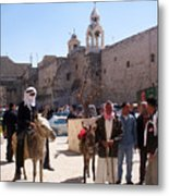 Bethlehem - Nativity Square Demonstration Metal Print