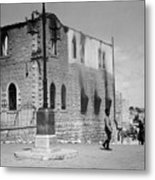 Bethlehem Police Barracks Burned Down On 1938 Metal Print