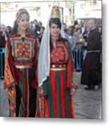 Bethlehemites In Traditional Dress Metal Print