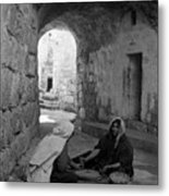 Bethlehemites Making Bread Metal Print