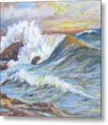Beth's Sea Metal Print by Caroline Owen-Doar