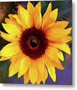 Betsy's Sunflower Metal Print
