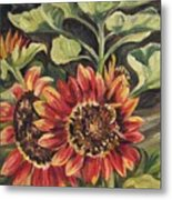 Betsy's Sunflowers Metal Print