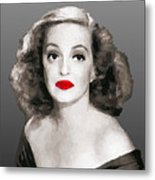 Bette Davis Draw Metal Print