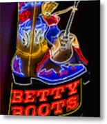 Betty Boots Metal Print