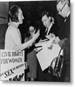 Betty Friedan, President Metal Print