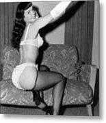 Betty Page Pin Up Girl 1950 Metal Print