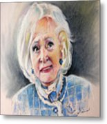 Betty White In Boston Legal Metal Print