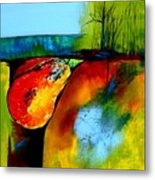 Between A Pear And A Rock Metal Print