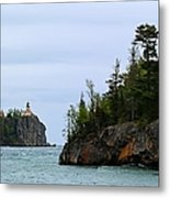 Between Rocks Panorama Metal Print