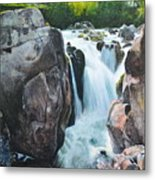 Betws-y-coed Waterfall In North Wales Metal Print