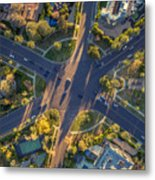 Beverly Hills Streets, Aerial View Metal Print