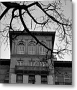 Beverly Wilshire Hotel - Beverly Hills - Black And White Metal Print