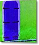 Beyond The Blue Door Metal Print