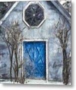 Beyond The Blue Door Pencil Metal Print