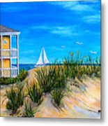 Beyond The Dunes Metal Print