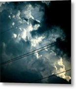 Beyond The Electric Fence Metal Print