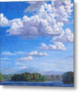 Beyond The Lake Metal Print