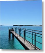 Beyond The Pier Metal Print