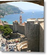 Beyond The Walls Of Old Dubrovnik Metal Print
