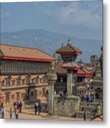 Bhaktapur Durbar Square In Kathmandu Valley, Nepal Metal Print