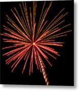 Bi-color Fireworks 2 Metal Print