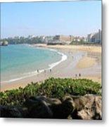 Biarritz Beach Panorama Metal Print