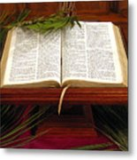 Bible On Palm Sunday Metal Print by Janice Paige Chow