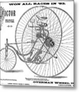 Bicycle, 1884 Metal Print