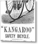 Bicycle Ad, 1885 Metal Print