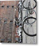 Bicycle And Building Metal Print