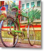 Bicycle Art Metal Print