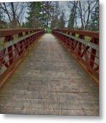 Bicycle Bridge - Niagara On The Lake Metal Print