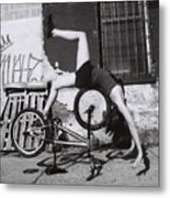 Bicycle Gymnastics 4 Metal Print