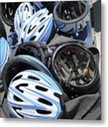 Bicycle Helmets Metal Print by Photostock-israel
