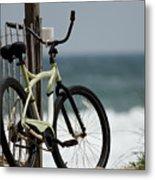 Bicycle On The Beach Metal Print by Julie Niemela