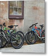 Bicycle Parking Metal Print