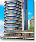 Bicycle Parking Garage - Full View Metal Print