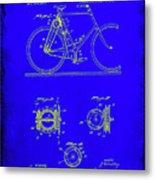 Bicycle Patent Drawing 4b Metal Print