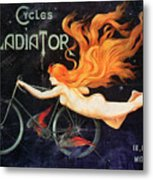Bicycle Poster, C1905 Metal Print